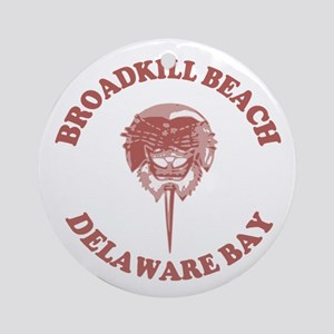 Broadkill Beach DE - Horseshoe Crab Design Ornamen