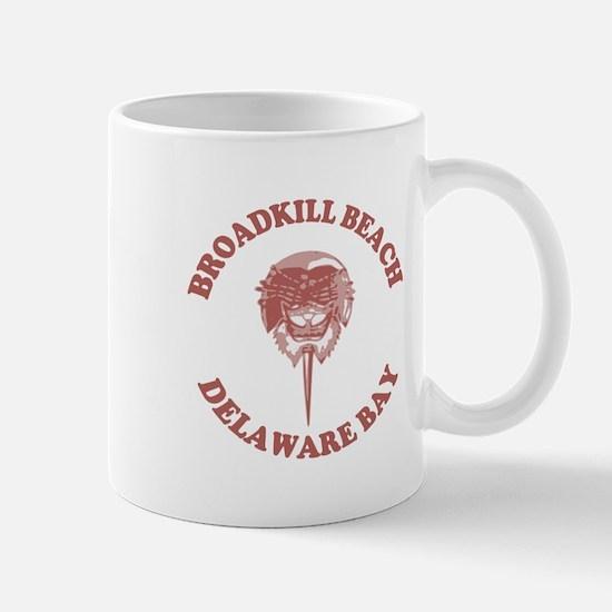 Broadkill Beach DE - Horseshoe Crab Design Mug
