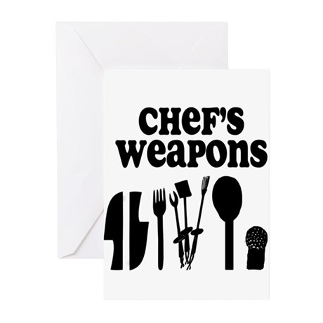 Chef's Weapons Greeting Cards (Pk of 20)