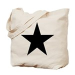 Black 5-Pointed Star Tote Bag