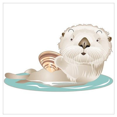 Baby Otter Poster