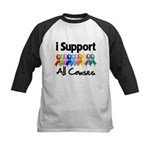 I Support All Causes Kids Baseball Jersey