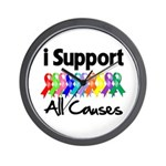 I Support All Causes Wall Clock