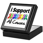 I Support All Causes Keepsake Box