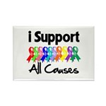 I Support All Causes Rectangle Magnet
