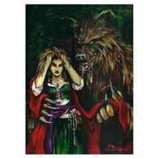 Werewolf and Red Poster