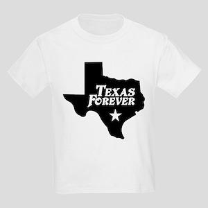 Texas Forever (White Letters) Kids Light T-Shirt