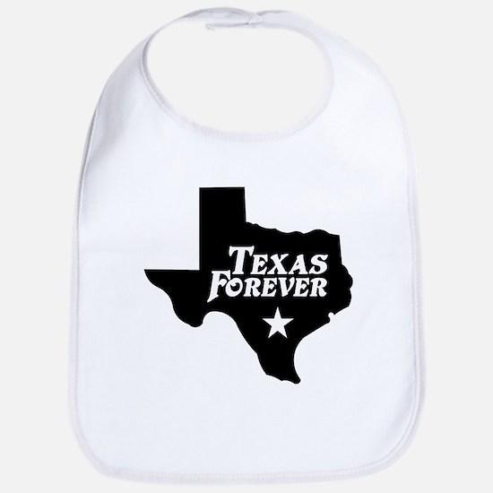Texas Forever (White Letters) Bib