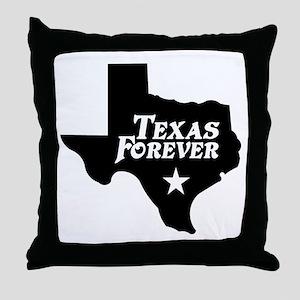 Texas Forever (White Letters) Throw Pillow