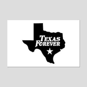 Texas Forever (White Letters) Mini Poster Print