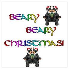 BEARY BEARY CHRISTMAS W/BEARS Poster