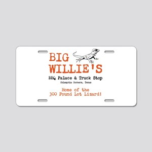 Big Willie's BBQ Palace + Tru Aluminum License Pla