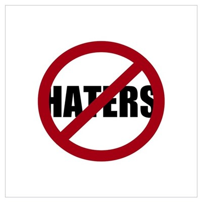 No Haters Canvas Art