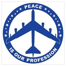 B-52H Peace Sign Poster