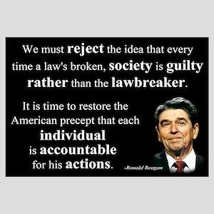 Reagan Quote - Individual Accountable