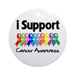 I Support Cancer Awareness Ornament (Round)