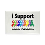 I Support Cancer Awareness Rectangle Magnet (100 p