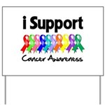I Support Cancer Awareness Yard Sign