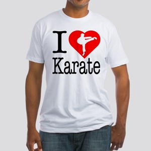I Love Karate Fitted T-Shirt