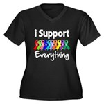 I Support All Causes Women's Plus Size V-Neck Dark