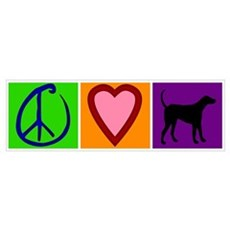 Peace Love Black Labs Poster