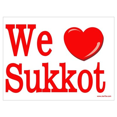 We Love Sukkot Canvas Art