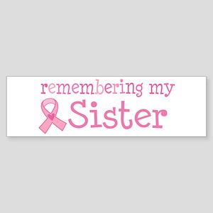 Breast Cancer Sister Sticker (Bumper)