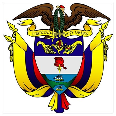 Colombian Coat of Arms Poster