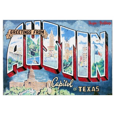 Greetings from Austin  sc 1 st  CafePress & Austin Texas Wall Art - CafePress