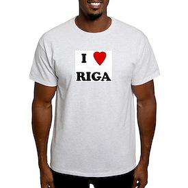 I Love Riga Ash Grey T-Shirt