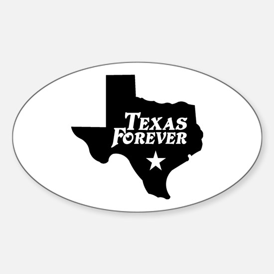 Texas Forever (Black - Cutout Ltrs) Sticker (Oval)