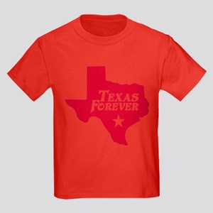Texas Forever (Red - Cutout Ltrs) Kids Dark T-Shir