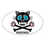nekoskull Sticker (Oval 10 pk)