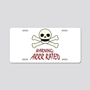 Arrr Rated Pirate (R-Rated) Aluminum License Plate