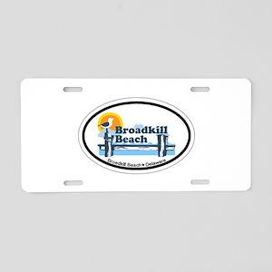 Broadkill Beach DE - Oval Design Aluminum License