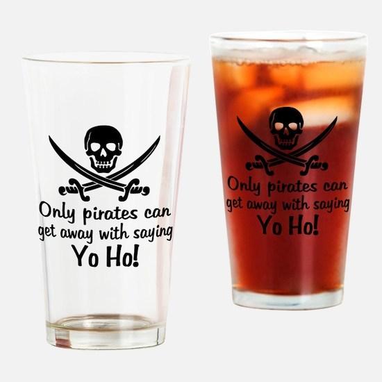 Pirate - Yo Ho Drinking Glass