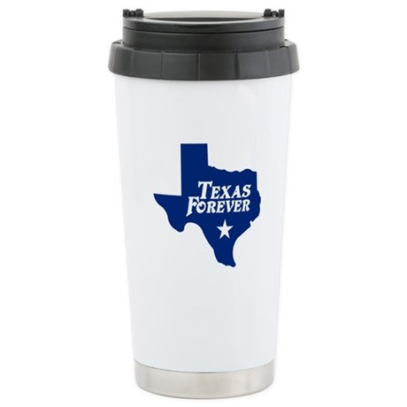 Texas Forever (Blue - Cutout Ltrs) Stainless Steel
