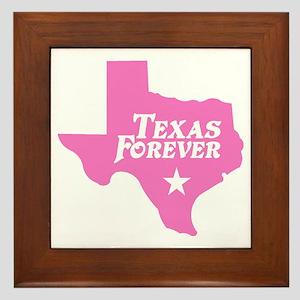 Texas Forever (Pink - Cutout Ltrs) Framed Tile