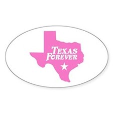 Texas Forever (Pink - Cutout Ltrs) Sticker (Oval)