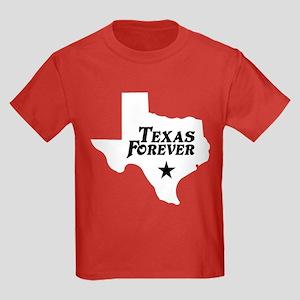 Texas Forever (White - Black Ltrs) Kids Dark T-Shi