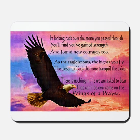 Wings of Prayer Mousepad