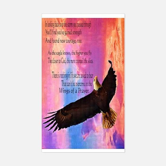 Wings of Prayer Sticker (Rectangle)
