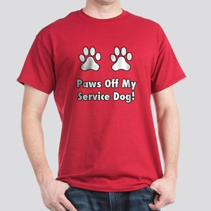 Paws off my service dog! Dark T-Shirt