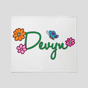 Devyn Flowers Throw Blanket