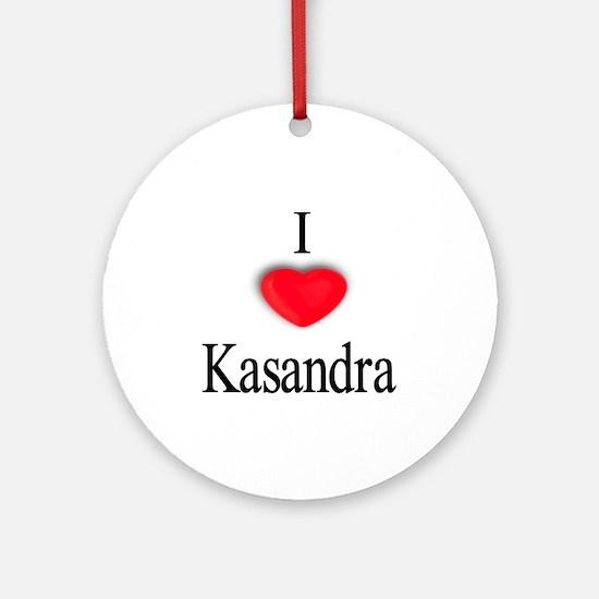 Kasandra Ornament (Round)