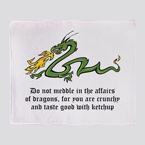 Dragon Affairs Throw Blanket
