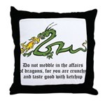 Dragon Affairs Throw Pillow