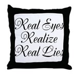 Real Eyes Throw Pillow