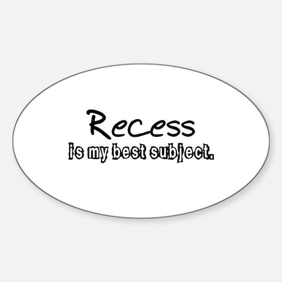Recess Sticker (Oval)