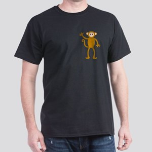 Cute Waving Monkey Dark T-Shirt
